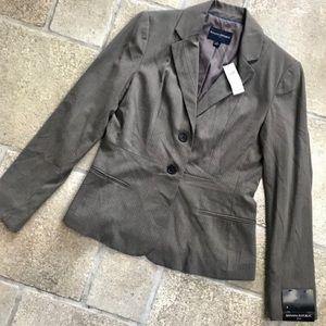 NWT Banana Republic Brown Pinstripe Blazer Jacket